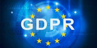 GDPR on EU Flag