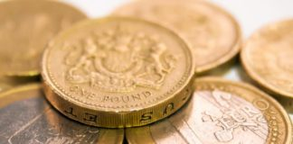 Picture of pound and euro coins