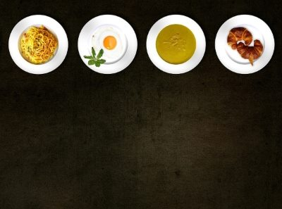 Picture of 4 food dishes